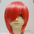 Red  Short Nylon Cosplay Wig