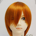 Orange  Short Nylon Cosplay Wig