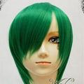 Green  Short Nylon Cosplay Wig