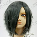 Dark Gray  Short Nylon Curly Cosplay Wig
