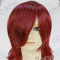 Wine Red Short Nylon Cosplay Wig
