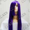 Dark Purple Long Nylon Straight Cosplay Wig