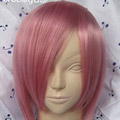 Pink  Short Straight Nylon Cosplay Wig