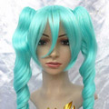 Blue 60cm VOCALOID2 Hatsune Miku Long Wavy Nylon Cosplay Wig