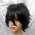 Black Short Nylon Cosplay Wig