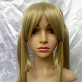 Yellow SOUL EATER Maka Albarn Long Straight Nylon Cosplay Wig in braids