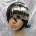 Black and Brown SOUL EATER Death the kid Short Nylon Cosplay Wig