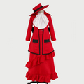 Black Butler Kuroshitsuji Madam red Cosplay Costume