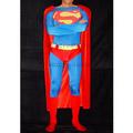通気 柔らかい セクシー レッドとブルー ラテックス ゴム スーパーマン 全身タイツ