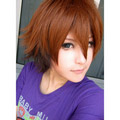 Brown and Black Vocaloid 2  Neru Short Nylon Cosplay Wig