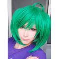 マクロスF ランカ/RANKA グリーン ショート ストレートの髪コスプレコスプレウィッグ