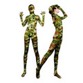 Alluring  Lycra spandex Breathable See-Through Camouflage  Zentai Suit