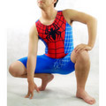 Blue&Red PVC  Spandex Spiderman  Zentai Suit