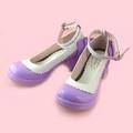 可愛い 紫とホワイト 4.5cm 蝶結び アンクルストラップ 合皮 ゴム底 ロリィタ/ロリータ靴