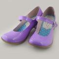 可愛い 紫 4.5cm 合皮 ゴム底 ロリィタ/ロリータ靴