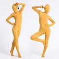 通気 柔らかい セクシー イエロー 黄色 ライクラ 全身タイツ