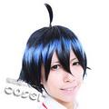Bakuman Moritaka Mashiro Blue Short Nylon Cosplay Wig