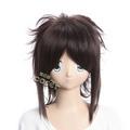 NARUTO Sasuke Coffee Short Nylon Cosplay Wig
