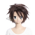 HIGH SCHOOL Of THE DEAD Komuro Takashi Brown Short Nylon Cosplay Wig