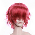 Pink  FINAL FANTASY Lightning Semi-long Nylon Cosplay Wig