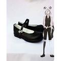 UN-GO 因果(いんが)ブラック 合皮 ゴム底 低ヒール コスプレ靴