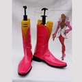 TIGER & BUNNY ファイヤーエンブレム ピンク 合皮 ゴム底 低ヒール コスプレ靴