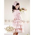ロリィタ/ロリータ プリンセスドレス リボン レースワンピース プーケ ライトピンク 綿質 ゴスロリ