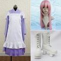 VOCALOID 巡音ルカ 千本桜 ドレス コスプレ衣装+コスプレウイッグ+コスプレブーツ 3点セット