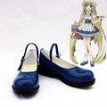 ちょびっツ(Chobits) ちぃ  ブルー  合皮 ゴム底  低ヒール  コスプレ靴