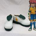 イナズマイレブンGO  霧野蘭丸(きりの らんまる) ホワイト  合皮 ゴム底 低ヒール コスプレ靴