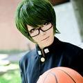 黒子のバスケ 秀徳高校 緑間真太郎(みどりま しんたろう) グリーン ショート コスプレウィッグ