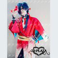 DRAMAtical Murder Koujaku dark blue short cosplay wig