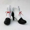 少女革命ウテナ 天上ウテナ ブラック+ホワイト ショート 合皮 ゴム底 ローヒール コスプレ靴