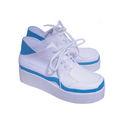 黒子のバスケ 海常高校 黄瀬涼太(きせ りょうた) ホワイト+ブルー 合皮 ゴム底 ミドルヒール コスプレ靴