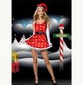 クリスマス コスチューム 可愛い ドット柄 ワンピース サンタ衣装