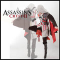 Assassin's Creed 2 II Ezio white anime  Cosplay Costume