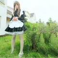 コスチューム 姫袖 スカラップ 黒 メイド服 コスプレ衣装