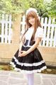 コスチューム 水溶レース ロリィタ/ロリータ 高腰 メイド服 コスプレ衣装