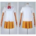 弱虫ペダル 総北高校自転車競技部 女子 夏の制服 ホワイト コスプレ衣装
