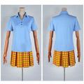 弱虫ペダル 総北高校自転車競技部 女子 夏の制服 ブルー コスプレ衣装
