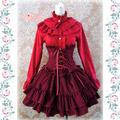 編み上げ ロリィタ/ロリータ シャツとスカート お嬢様  コールテン 3色あり