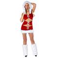 クリスマス サンタコスプレ 学生舞台ドレス バーの出演衣装 フリーサイズ サンタドレス サンタ 衣装 クリスマス コスチューム 仮装グッズ コスプレ衣装