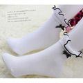 ロリータ アクセサリー可愛いメイドタイプ ふんわり 蝶結びの靴下 ゴスロリ ソックス