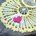 中二病でも恋がしたい!戀 七宮 智音(しちみや さとね) ハート ピンク 顔飾り 萌え コスプレ道具