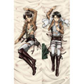 進撃の巨人 リヴァイ兵長/エレン オリジナル抱き枕カバー、等身大抱き枕カバー、アニメ抱き枕