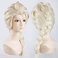 アナと雪の女王 Frozen Disney エルサ(Elsa) ホワイト ロング コスプレウィッグ