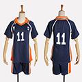 ハイキュー!! 月島 蛍(つきしま けい) 烏野高校排球部 番号11 ユニフォーム コスプレ衣装