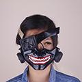 東京喰種トーキョーグール 金木 研(かねき けん) / カネキ 半喰種 マスク フリーサイズ コスプレ道具
