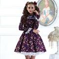 お姫様 春の季節 高級スカート 長袖 二色選択可 紫とピンク ロリィタ/ロリータ ゴスロリ