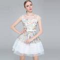 エクセレント ホワイト ワンピース セクシー 絹  オーガンザ ふんわり オリジナル衣装